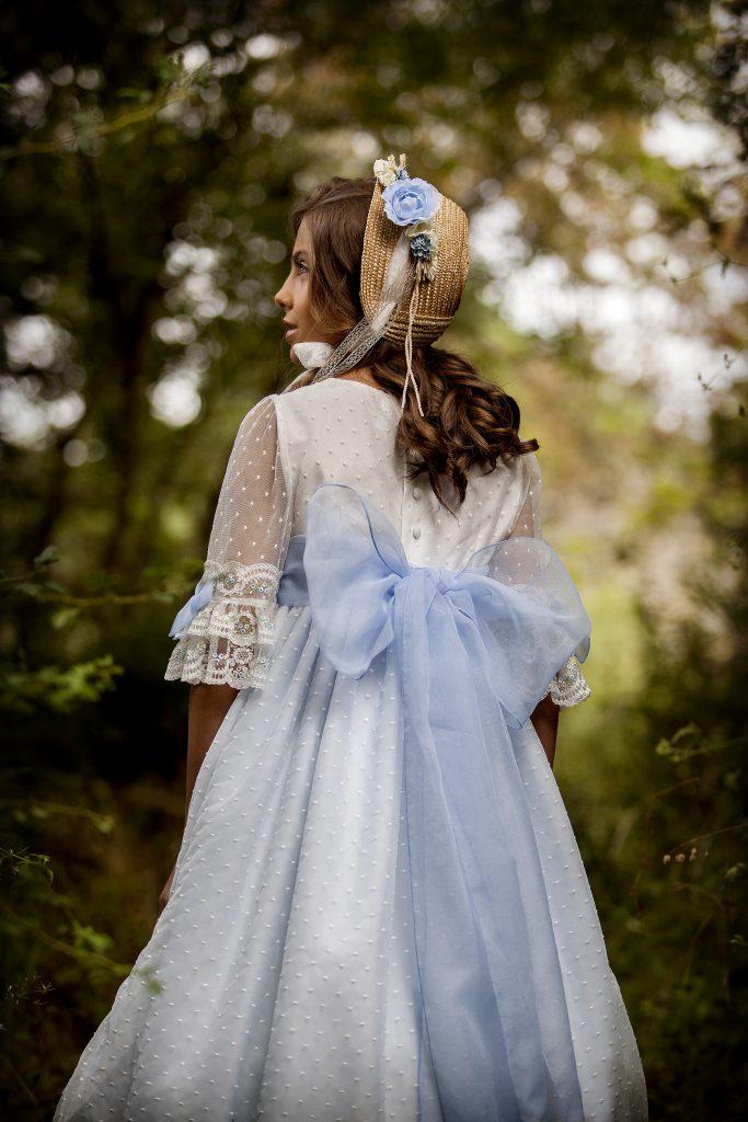 Vestido de comunión azul